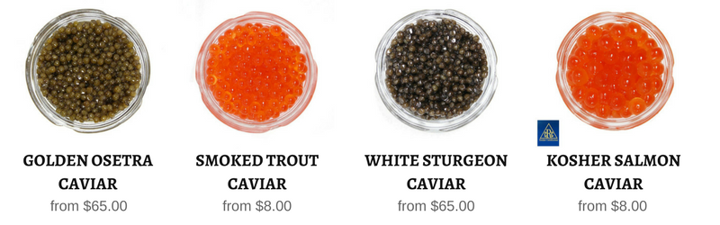 All black caviar and red caviar in stock