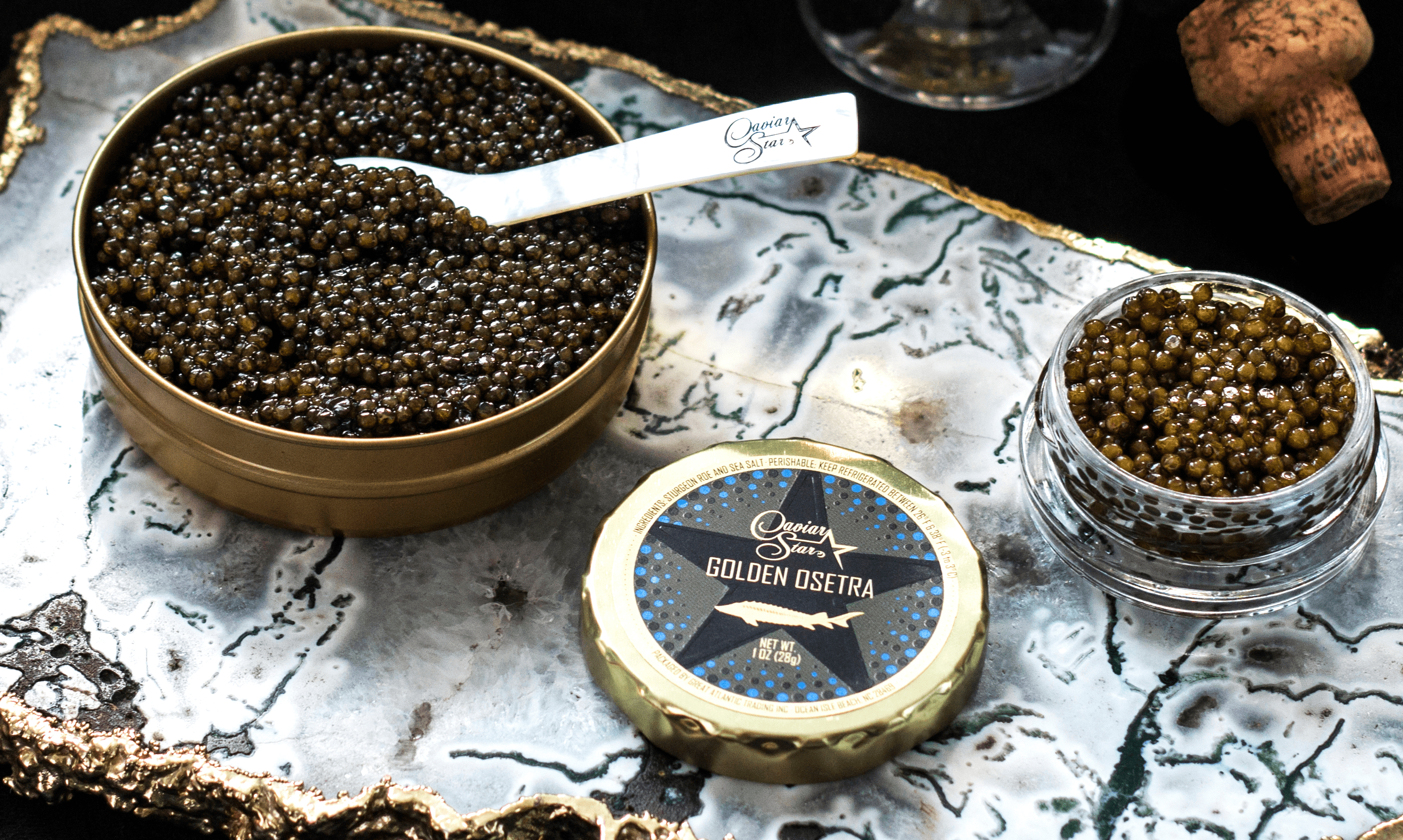 caviar on serving dish
