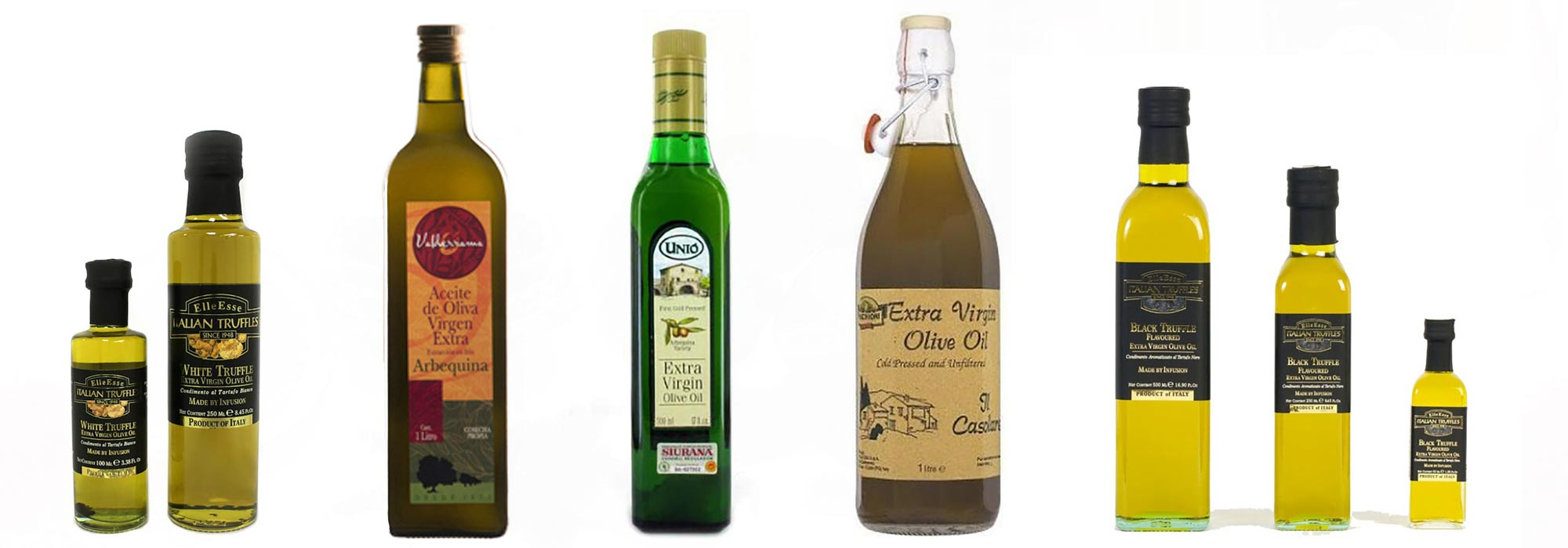 Extra virgin olive oil and pure olive